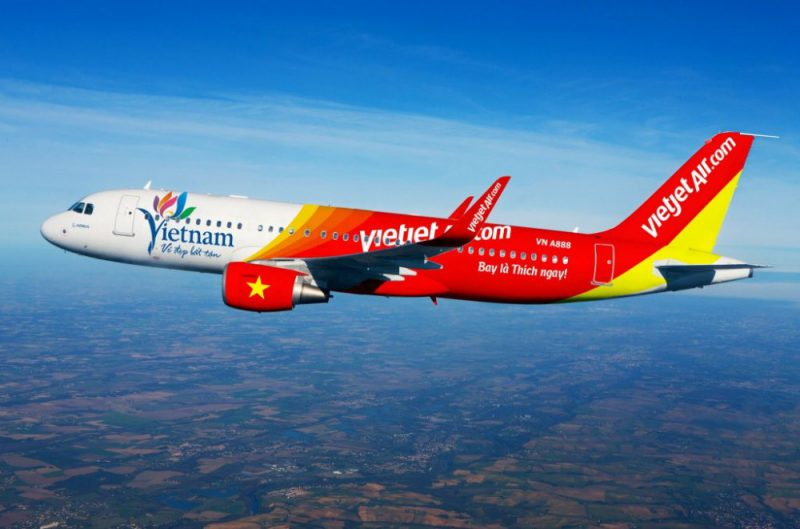 Máy bay Sharklet A320 mới nhất hãng Vietjet Air