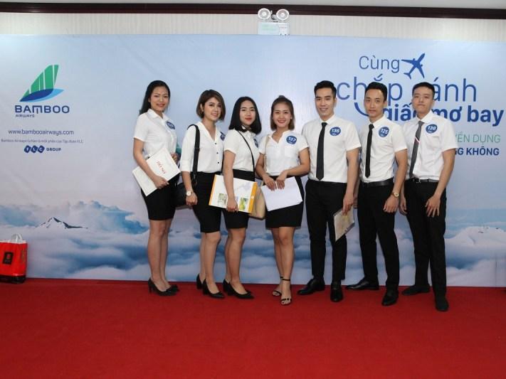 Đội ngũ nhân viên của hãng hàng không Bamboo Airways