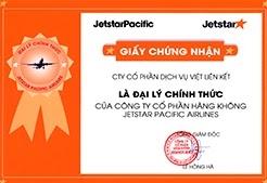 VLINK là đại lý cấp 1 chính thức của Jetstar Pacific