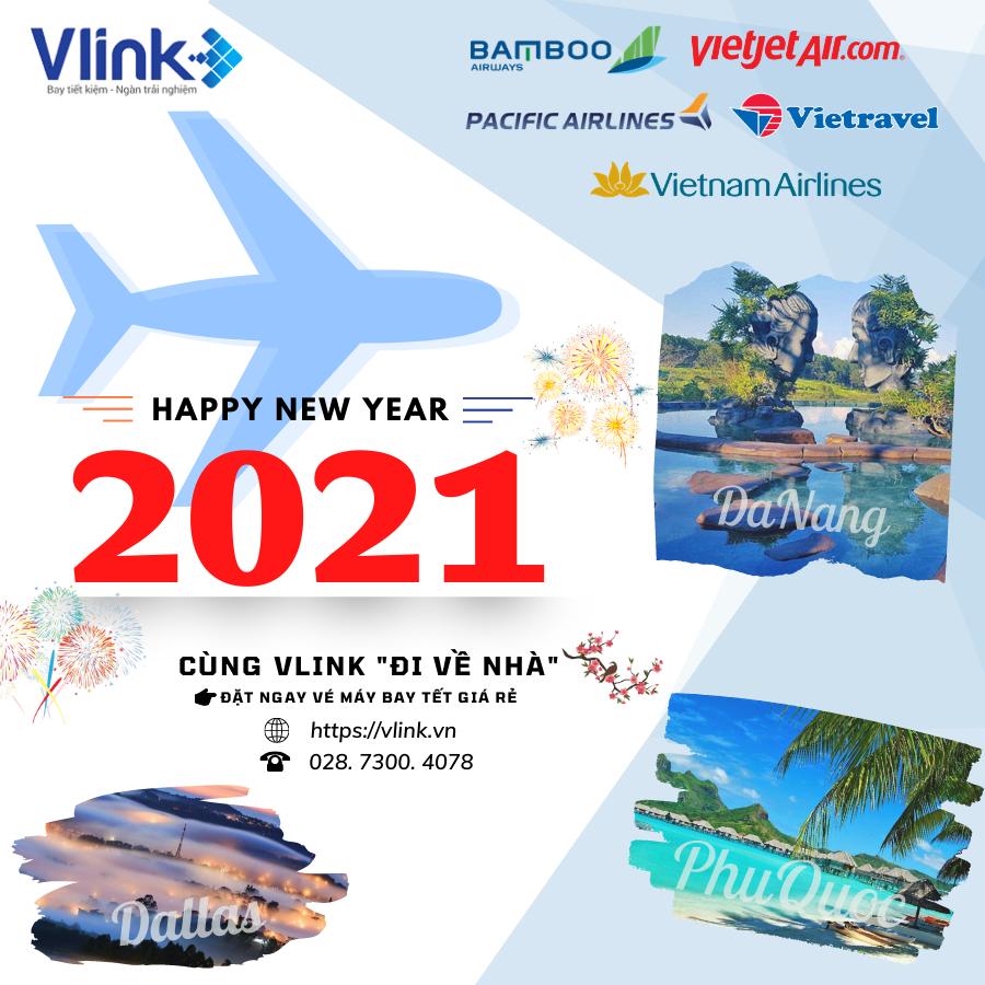 Đi về nhà cùng Vlink - Săn vé máy bay Tết 2021