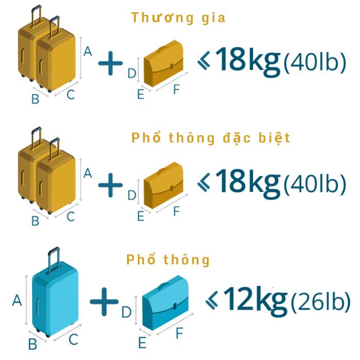Quy định hành lý xách tay Vietnam Airlines
